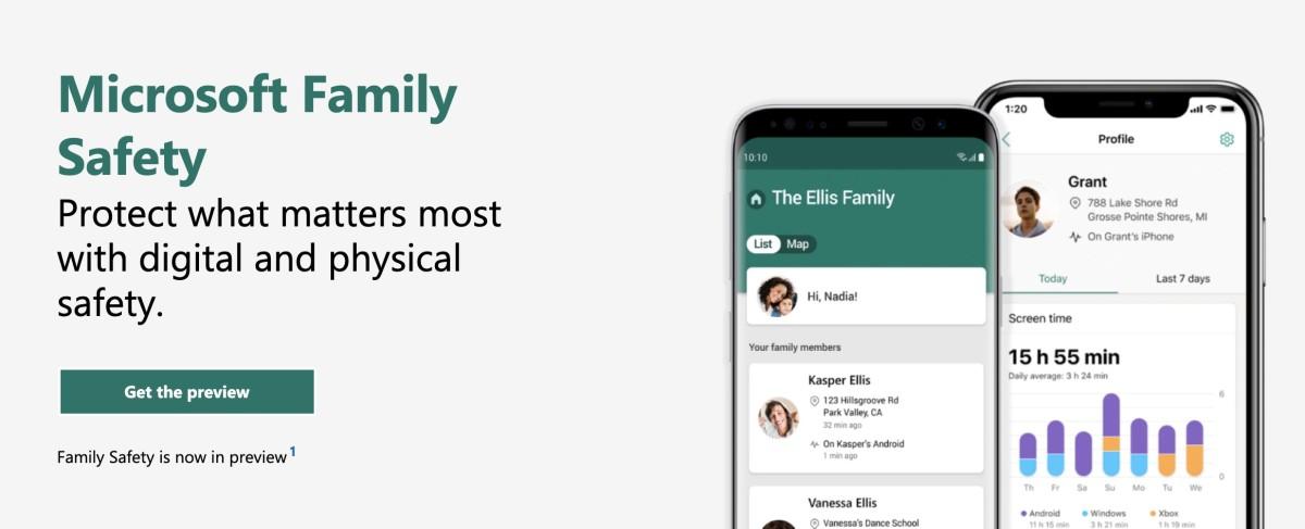 Microsoft 在 3 月整合 Office 365 訂閱服務到 Microsoft 365 時,公布會在今年內推出 Microsoft Family Safety 。