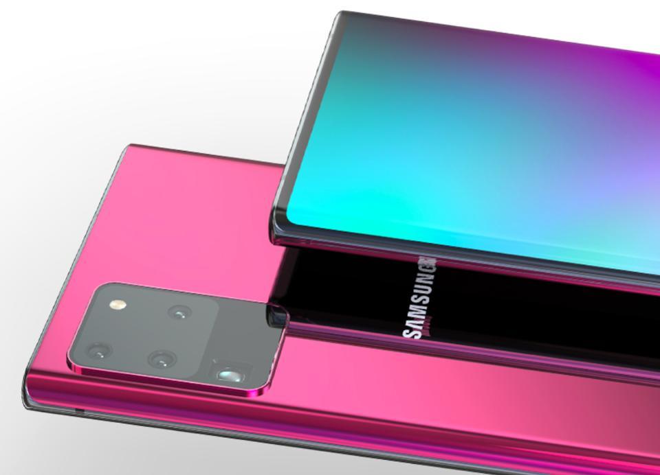 Samsung Galaxy Note 20 的預想造型