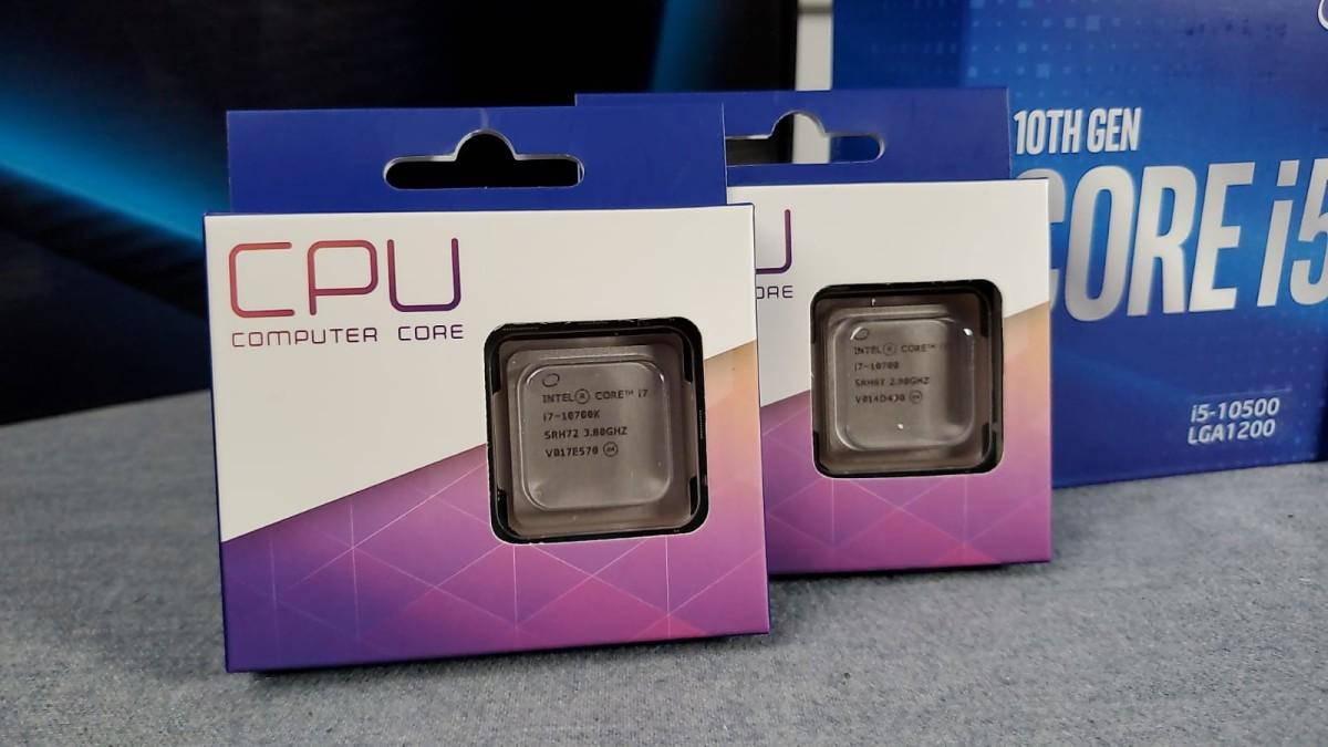 暫時到貨最高規格為Core i7 10700K。
