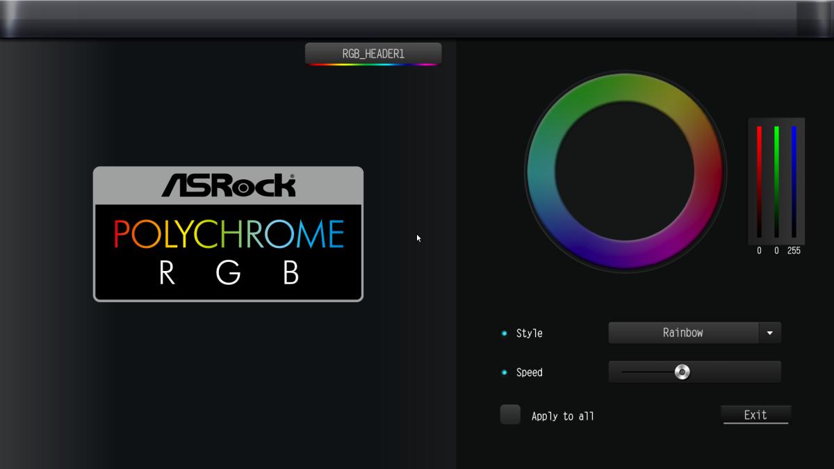 可在 BIOS 直接控制 RGB 特效