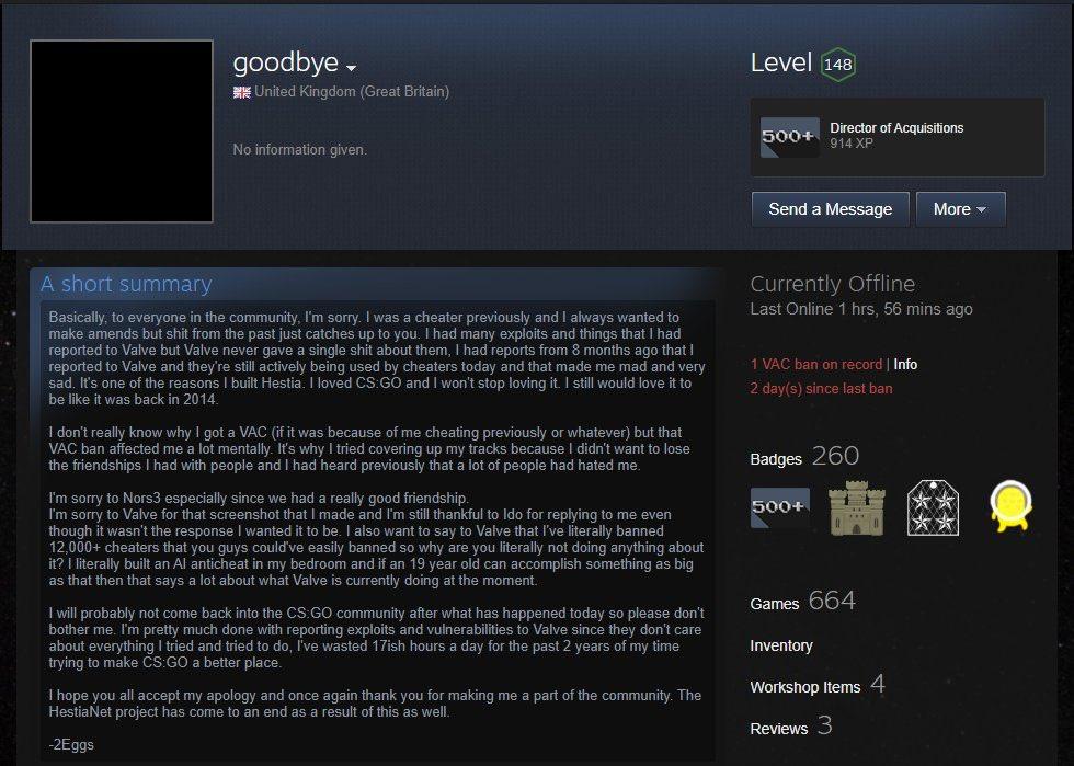 2egg 的謊言被拆穿後就 Steam 打了一段長文章結束事情