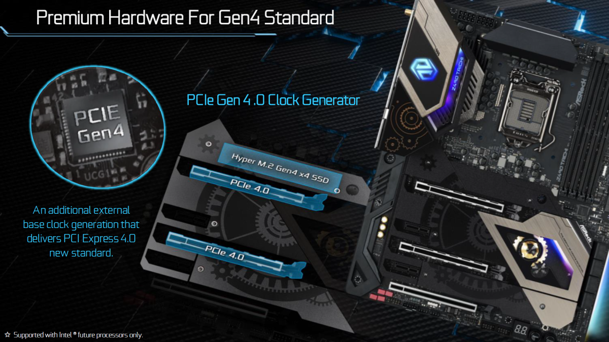 ASRock Z490 主機板以 PCI-E 4.0 hardware ready! 作為主要賣點
