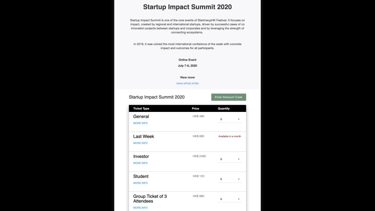 WHub 辦的 Startup Impact Summit 2020 由一日延長至兩日,並正在發售直播門票。