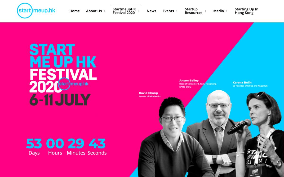 StartmeupHK 2020 將在 7 月舉行。