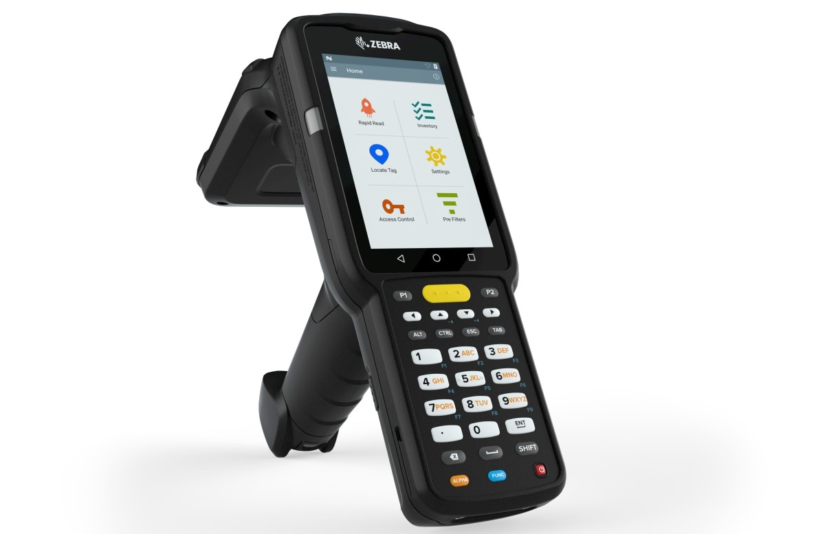MC3390R 新一代一體式 UHF RFID 標籤讀 取器,毋須換機即可同時讀取 1D、2D 條碼及 RFID 標籤的資訊。