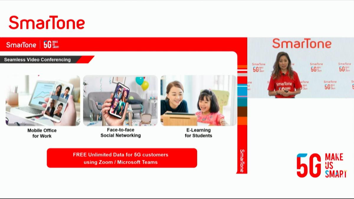 SmarTone 5G 用戶可免數據用 Microsoft Teams 及 Zoom 程式,在現時多遙距工作的情況下大派用場。