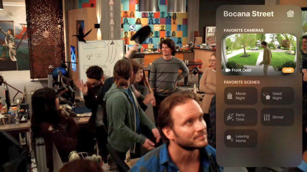 可以在 Apple TV 播放影片時看到智能門鐘的畫面