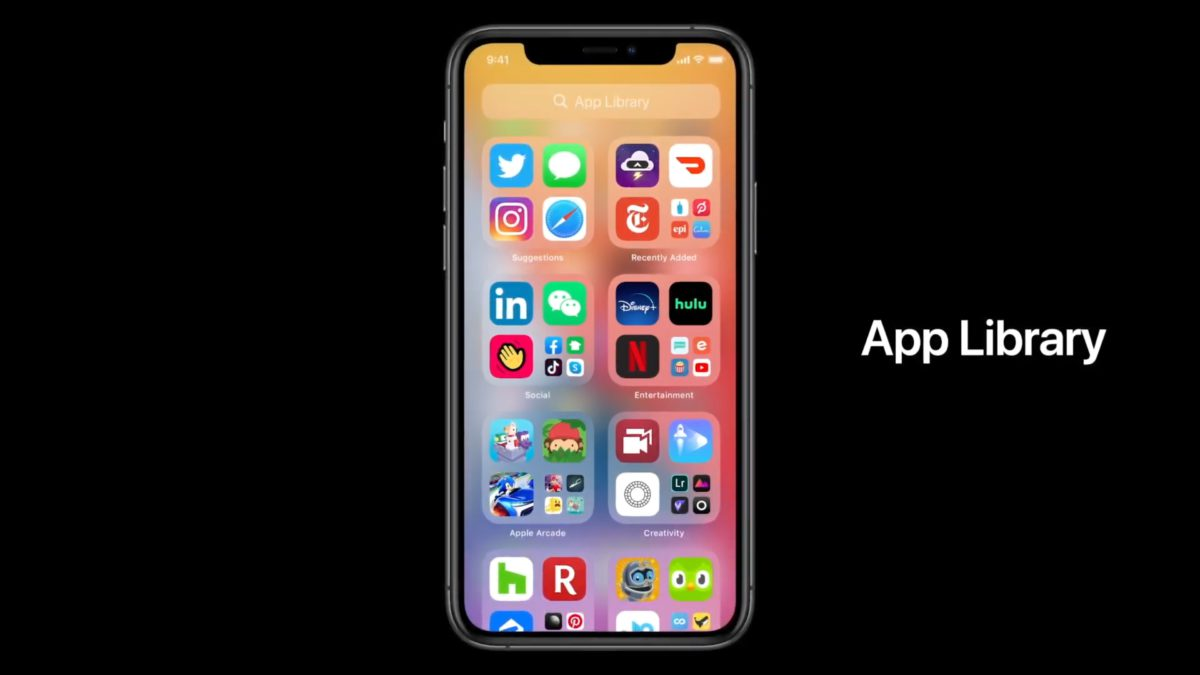App Library 自動整理手機程式,減少分頁。