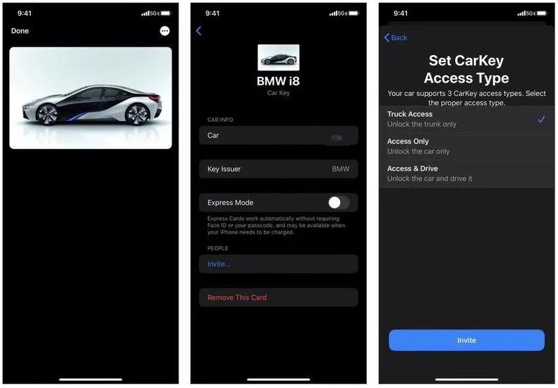 CarKey 功能畫面早已外洩,估計會在 iOS 14 時推出,但亦有可能提前到 iOS 13.6 就推出。