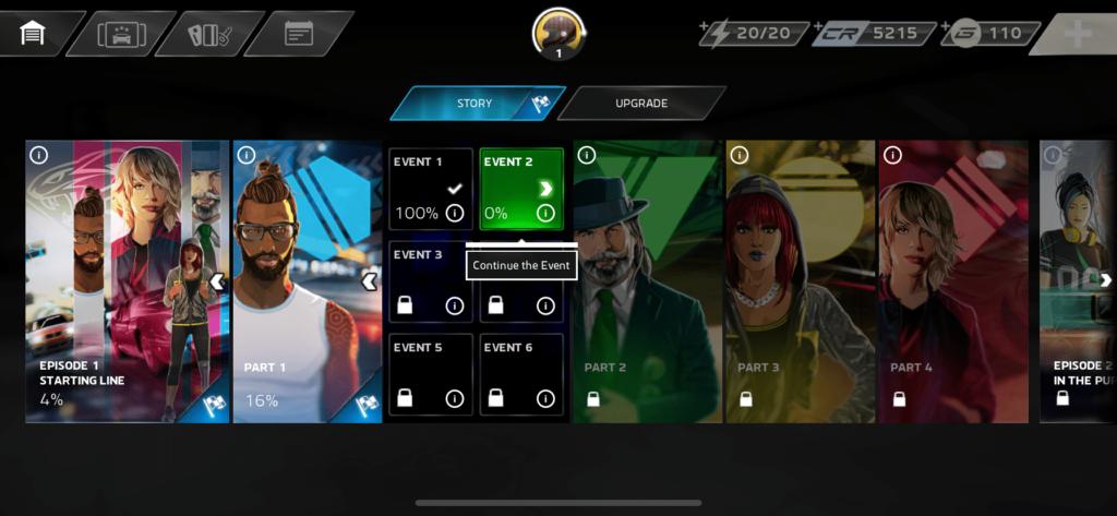 設有多個不同的劇情關卡,玩家需要逐一完成。
