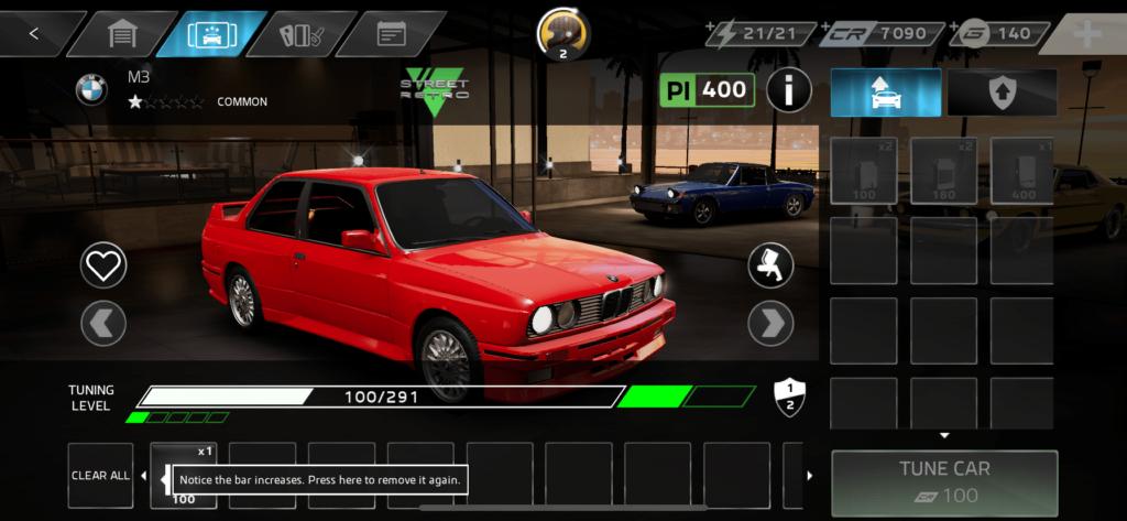 設有改車環節,不過幾乎全交由電腦負責,玩家只能看能力值提升。
