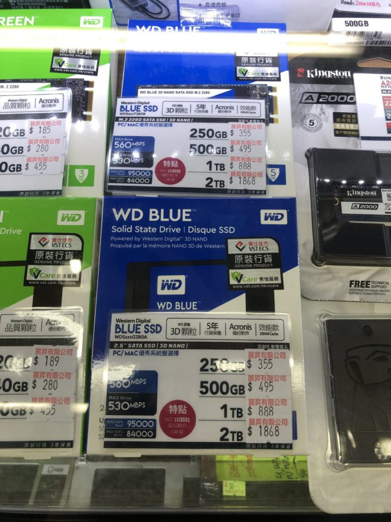WD 雖更貴,但是少有具 M.2 SATA 的產品。