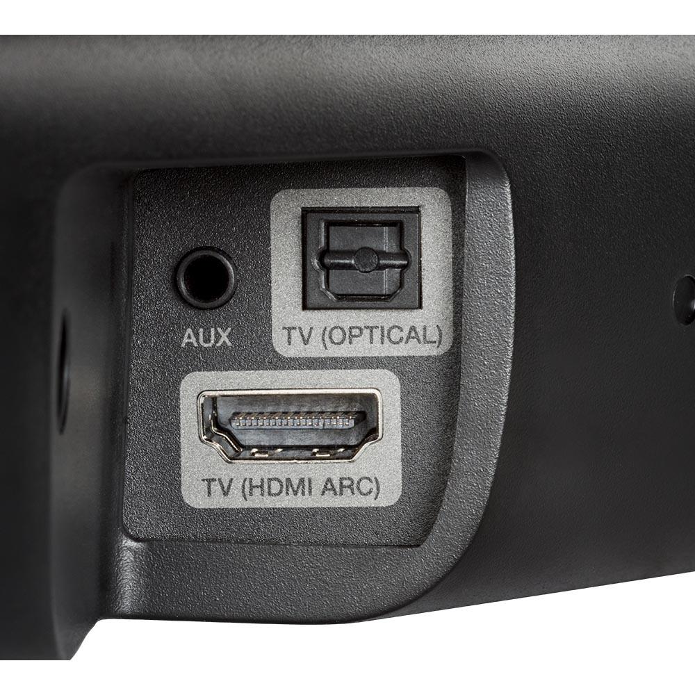 DHT-S316 機背設有一組對應 ARC 的 HDMI 輸入,並設有光纖及3.5mm AUX輸入。