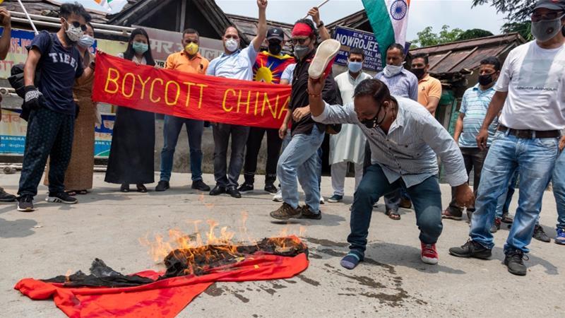 印度民眾持續抵制中國產品。