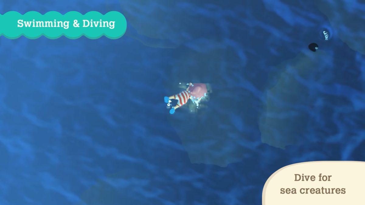 玩家可以潛水以捕獲新奇的海底生物。
