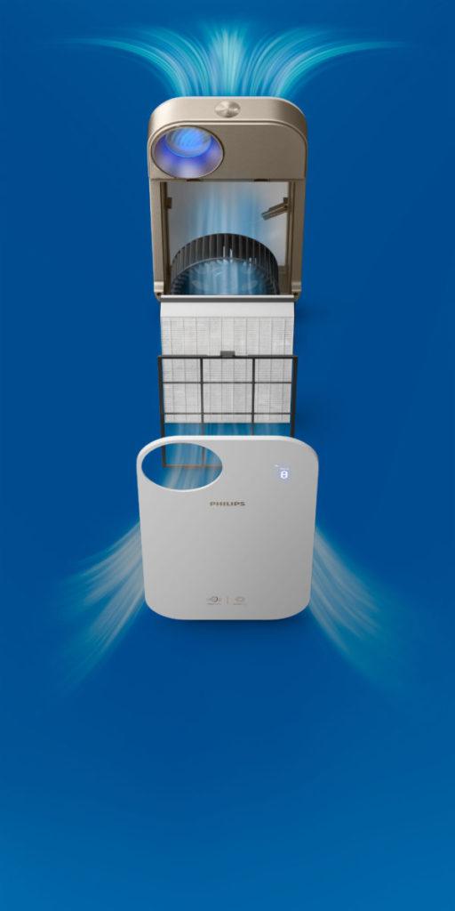 採用雙重濾網,比一般產品能更有效淨化空氣中的甲醛及污染物