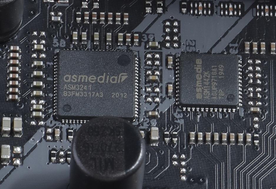 為補Intel B460晶片組USB功能不足,特別加入ASMedia ASM3241晶片。