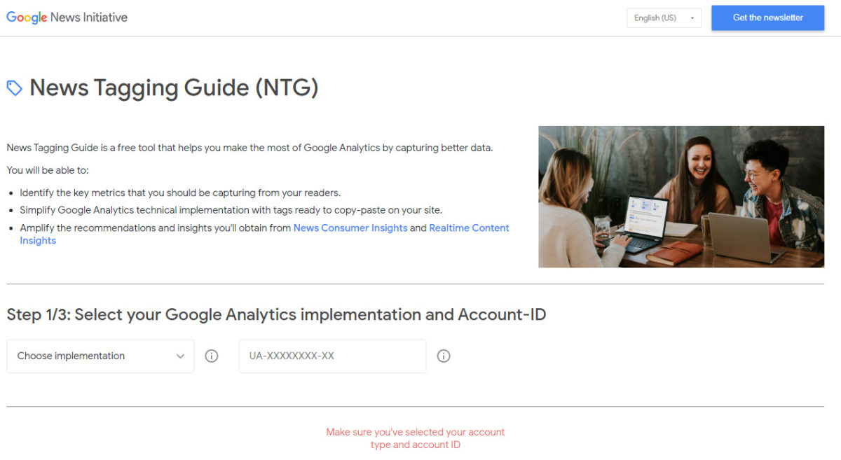 最新的Google分析工具-News Tagging Guide。