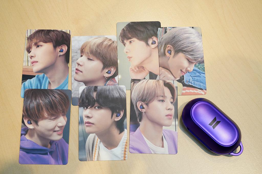 Galaxy Buds+ BTS Edition包裝盒中亦有BTS成員的相片小卡。