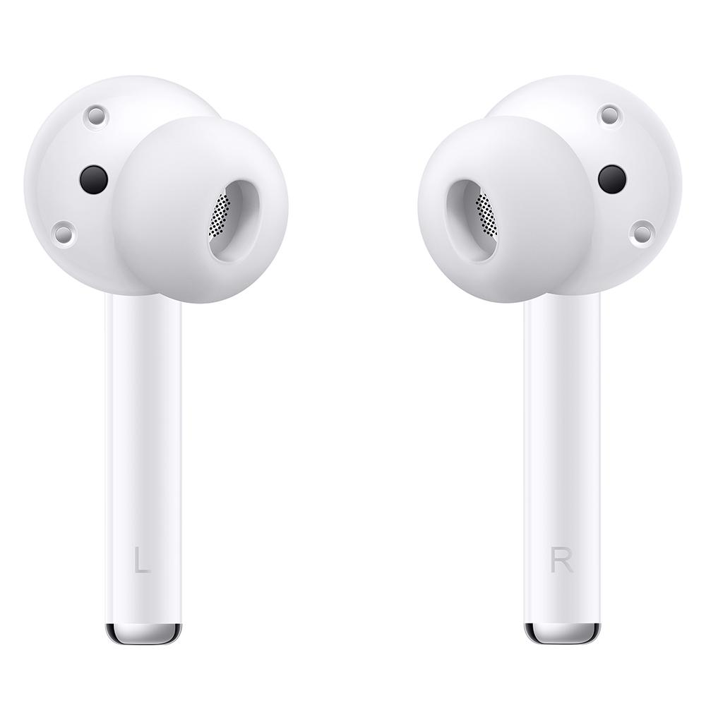 HUAWEI FreeBuds 3i 採用全新入耳式設計並加入三組麥克風,帶來高達 32dB 的主動降噪效果,加強聽歌與通話體驗。