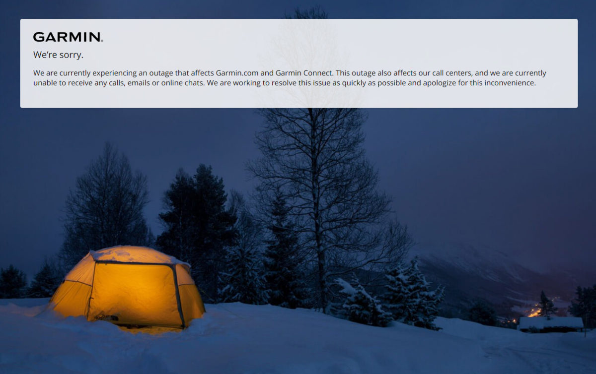 Garmin Connect 網站亦貼出英文公告暫停服務。