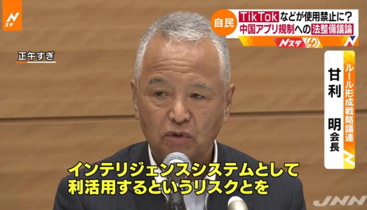 日本自民黨規則形成戰略議員聯盟會長甘利明