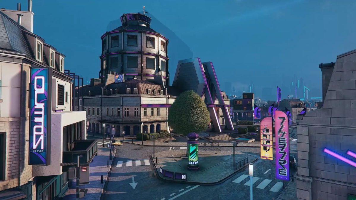 Hyper Scape 地圖含天台,小巷為主。