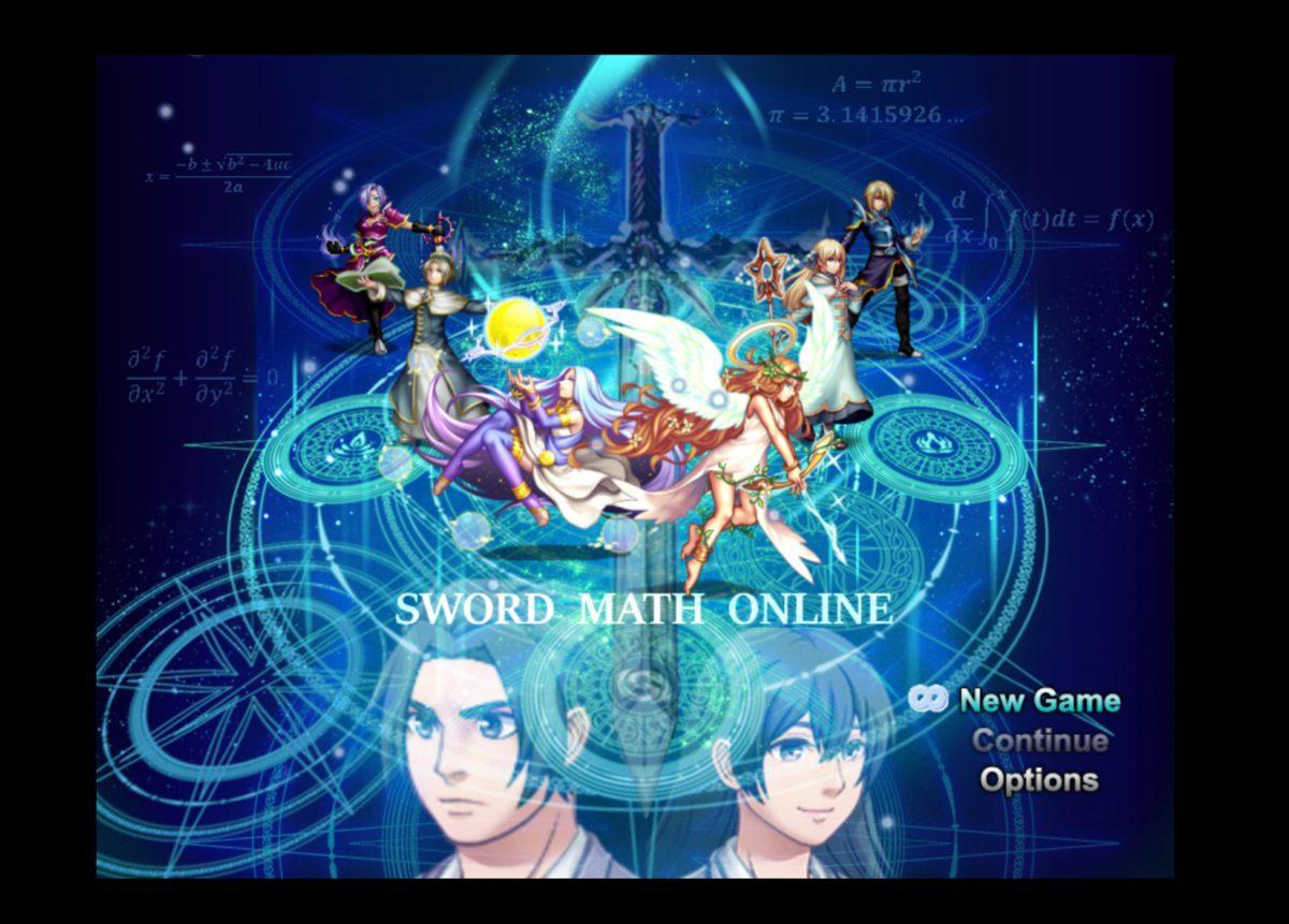 當玩家進入《Sword Math Online》後,會看到充滿數學公式的圖像背景。