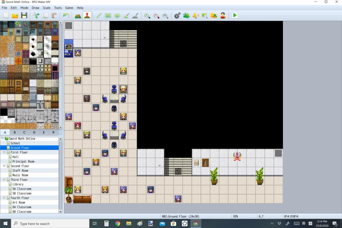 遊戲是透過《 RPG Maker 》創製角色。