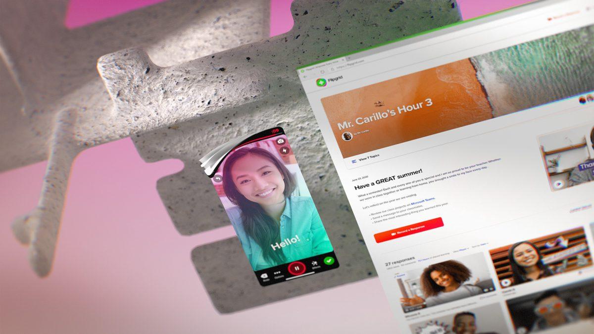 浮動的 Flipgrid 直播或影片視窗,更直覺地連繫師生。