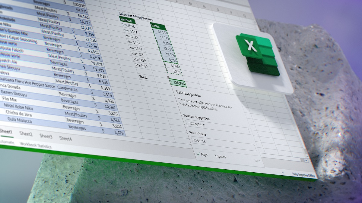 主動發現 Excel 試算表錯誤並提出解決建議的介面例子。