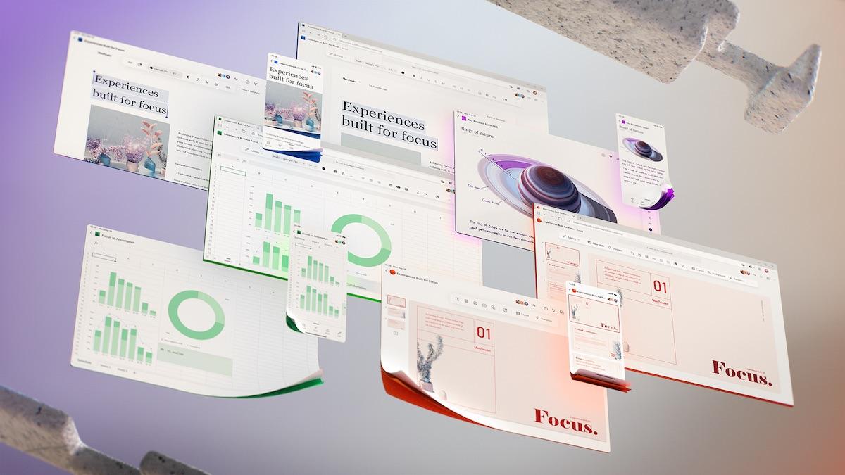 流暢設計體系的早期介面設計,目標是提升專注力。