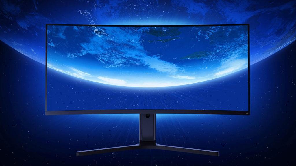 小米曲面遊戲顯示屏為34吋設計,外型簡約。