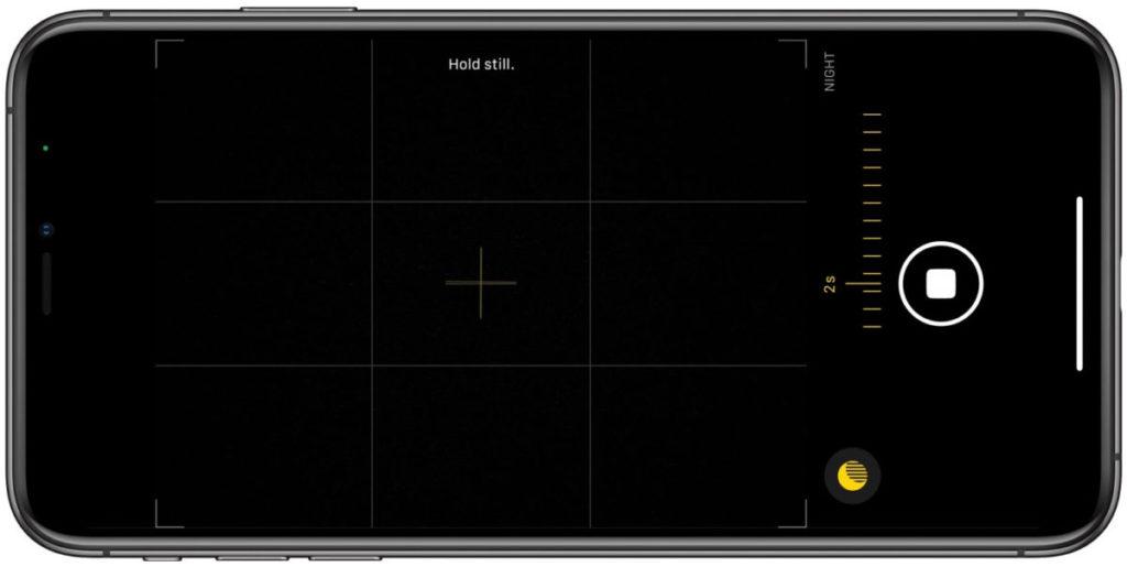 「夜間模式」,更新後會使用使用 iPhone 11 系列機內的陀螺儀,方便用戶在拍攝時能保持 iPhone 的穩定。