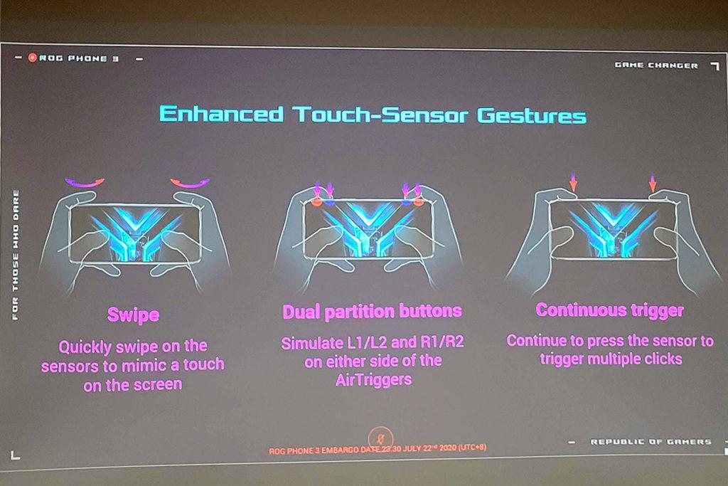 可做到按壓、打橫掃、滑動,甚至是分隔(二變四)設定等,非常強勁,令打機時操控可有更多變化。