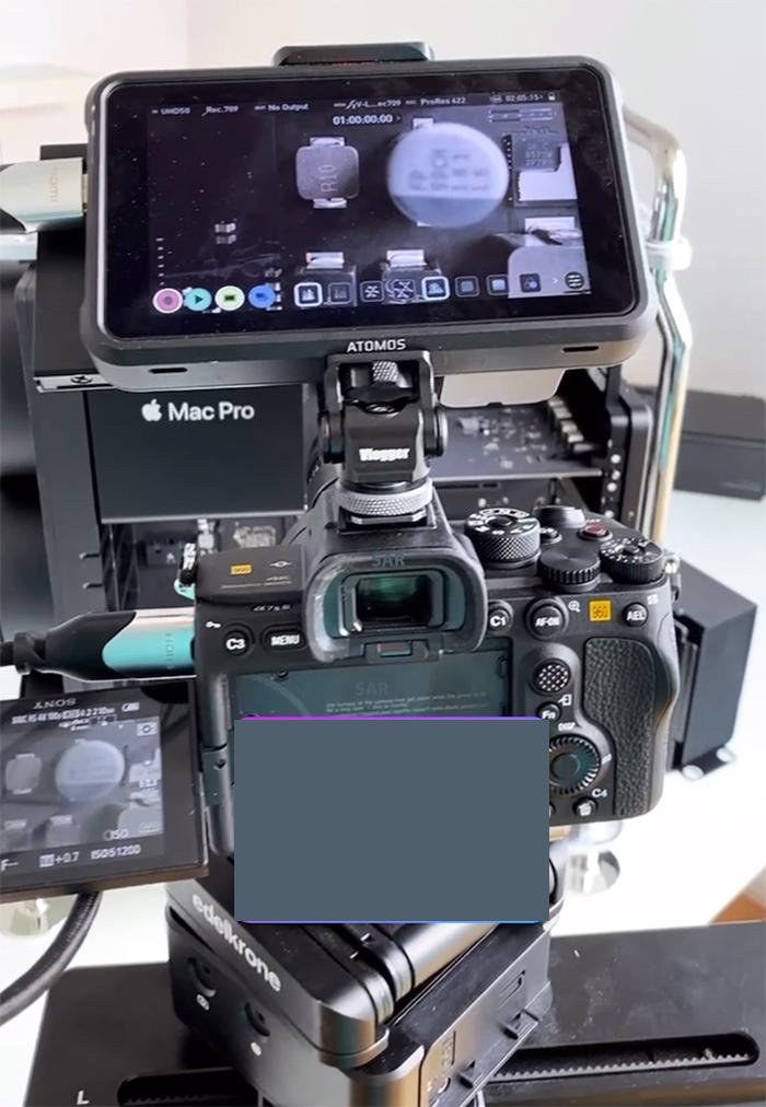 要拍攝高幀數 4K 影片,就要用 HDMI 連接 Atomos HDMI Atomos 影像記錄監視器。