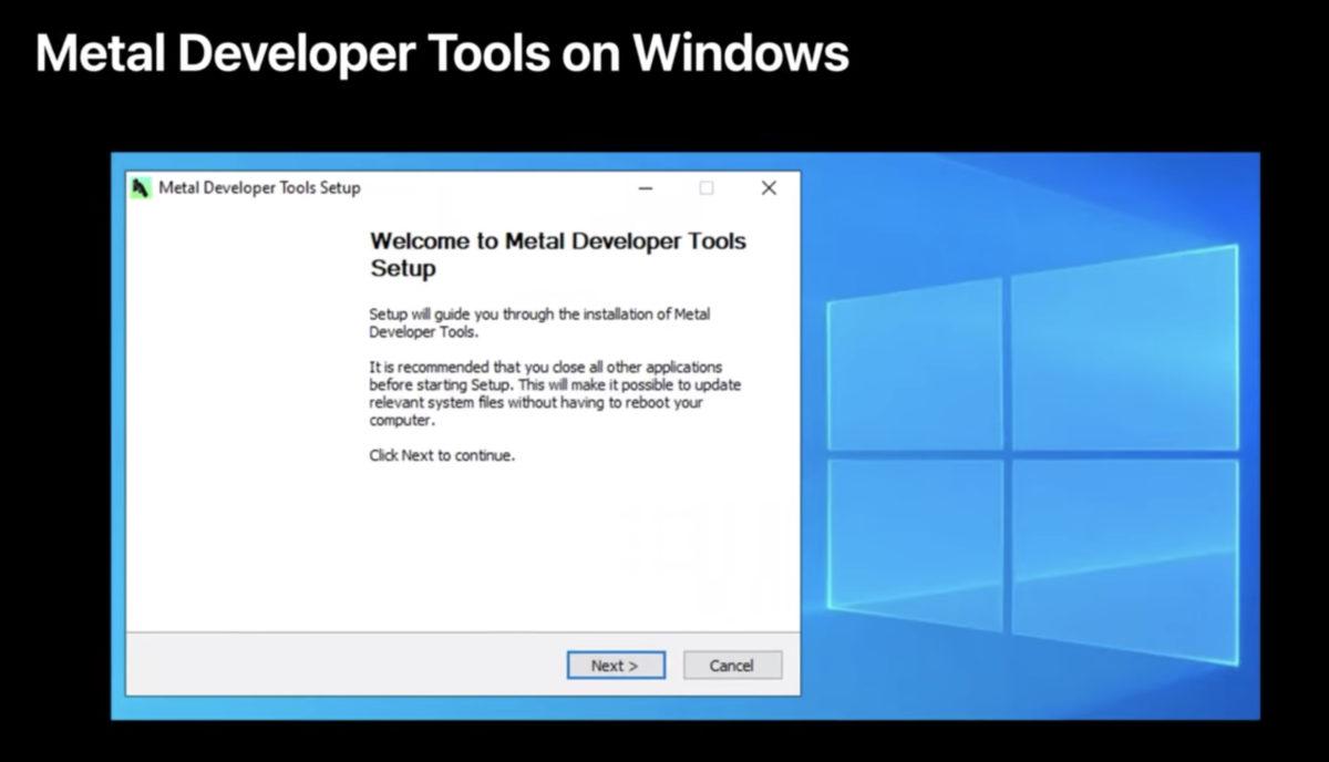 Metal Developer Tools for Windows 10 推出後, Apple 遊戲開發過程將更符合現時遊戲開發的生產管線。