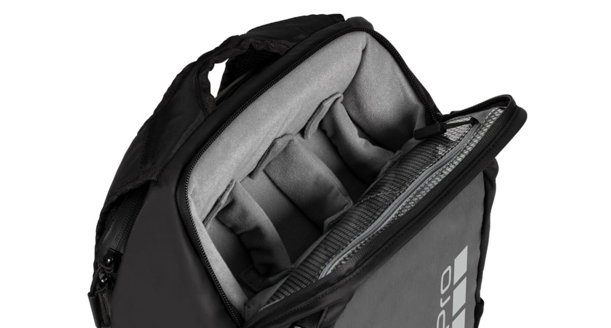 Daytripper 內裡有軟內襯可以擺放相機配件、15 吋筆電,或者放入行山用的 2 公升水袋。