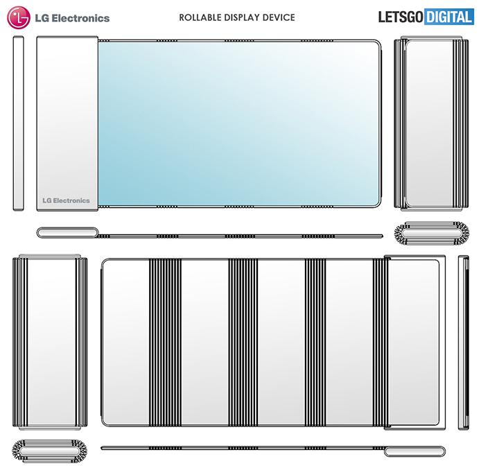 LG 年初提交的專利可見其卷軸式設計擁有多個屈曲位置。