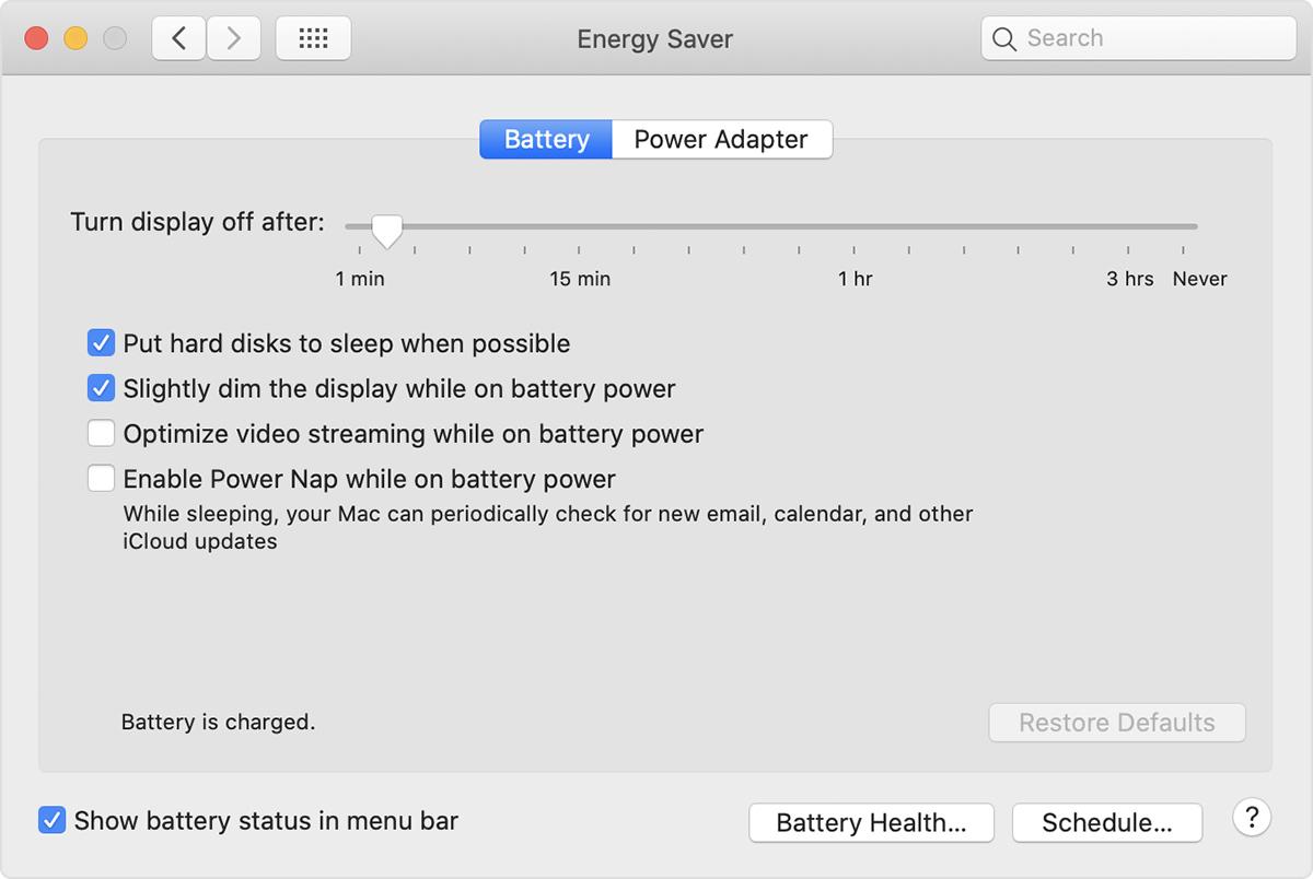 macOS 10.15.6 加入優化使用電池供電時串流影片功能,改善耗電。