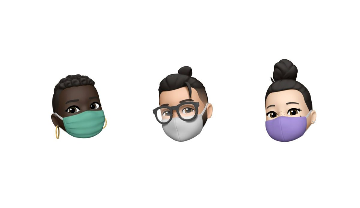 iOS 14 還會加入獨自創建的戴口罩頭像 Emoji 。