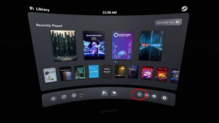 工具列左下的快捷鍵,如此的 UI 設計代表此功能的泛用及重要性。(圖片來源:Road to VR)