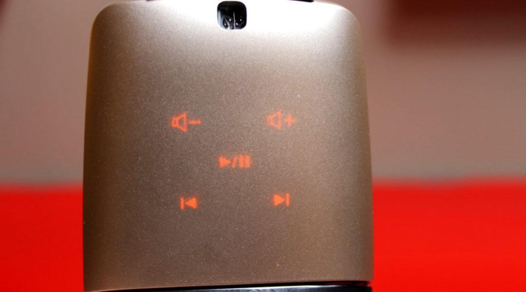 使用簡報器模式時,滑鼠底部的屏幕會亮起。