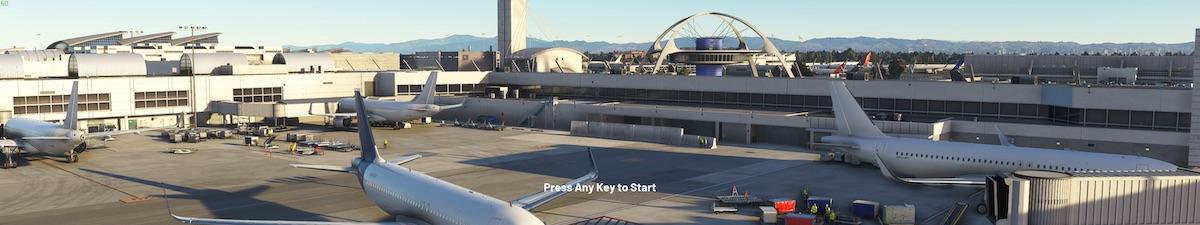 開啟遊戲即見到廣闊的機場。