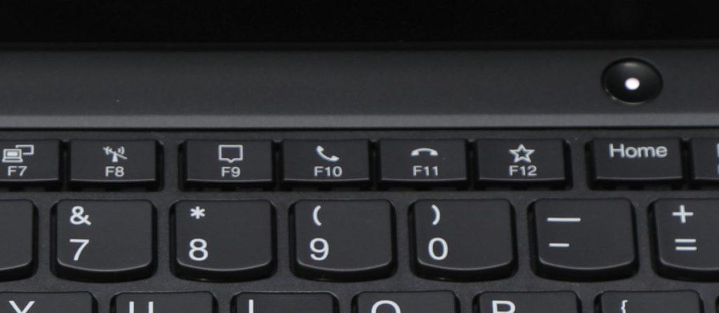 F9 ~ F12 鍵整合了為配合網絡通話的操控鍵,包括接聽及掛斷鍵。