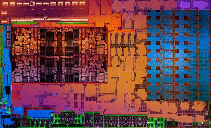 Raven Ridge核心受14nm製程所限,大部分核心面積用於顯示及晶片組功能,可供CPU Cores的部分明顯不足。