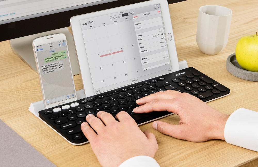 K780 Multi-Device Wireless Keyboard 能同時接連 3 台裝置