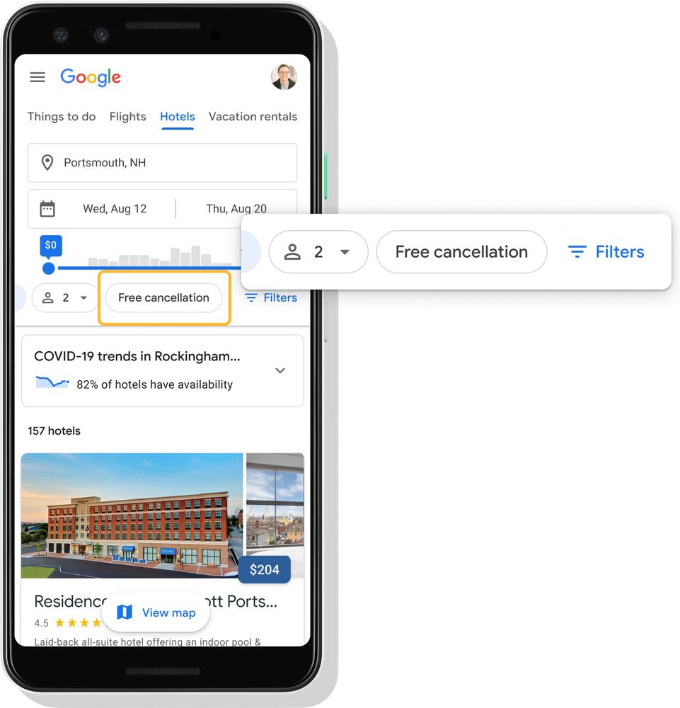 Google 提醒可善用「免費取消」功能。