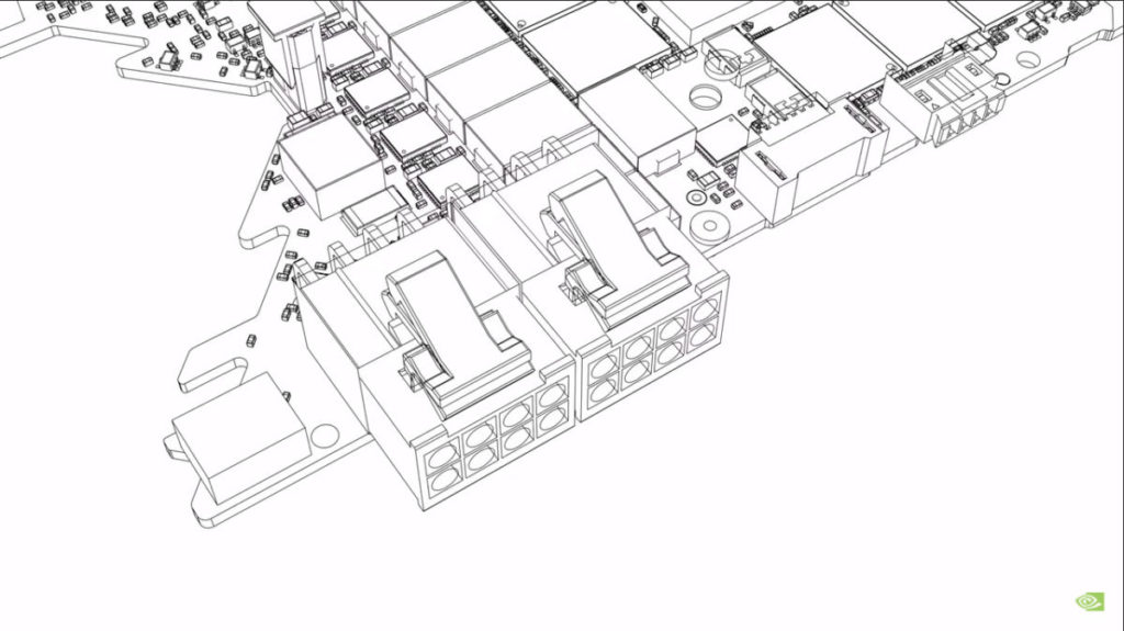 傳統的雙 8pin PCI-E 電源連接器設計,會佔用一定的 PCB 空間。