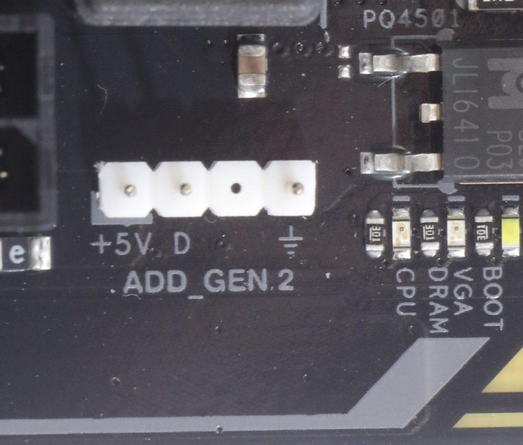 設有兩組可定址 Gen2 RGB 接頭,用作支援 +5V ARGB 燈效裝置。